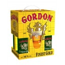 ESTUCHE GORDON FINEST GOLD - 4 UNIDADES 33 cl + VASO