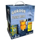 ESTUCHE GORDON FINEST MIX - 4 UNIDADES 33 cl + VASO